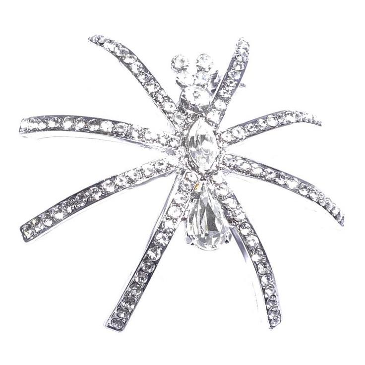 Butler & Wilson Crystal Spider Brooch