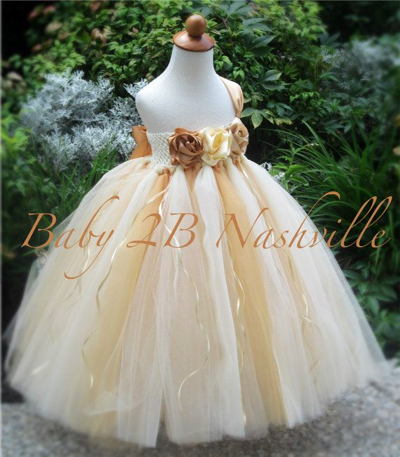Gold Flower Girl Dress Wedding Flower Girl by Baby2BNashville