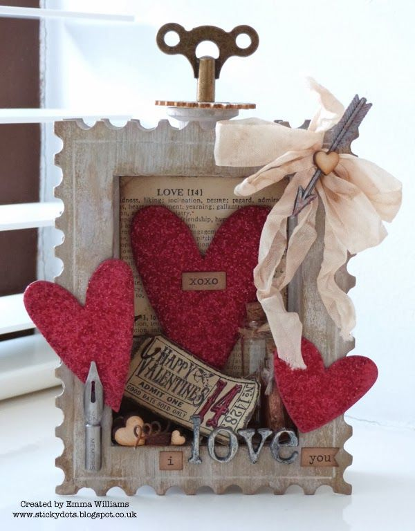 Awesome Shadow Box created by Emma for the Simon Says Stamp Monday challenge (Love Letters) February 2014