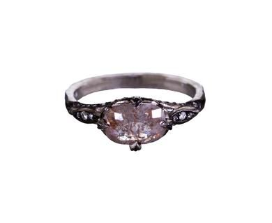 Cathy Waterman | Gray Moghul Diamond Petal Side Ring in Designers Cathy Waterman One-of-a-Kind at TWISTonline