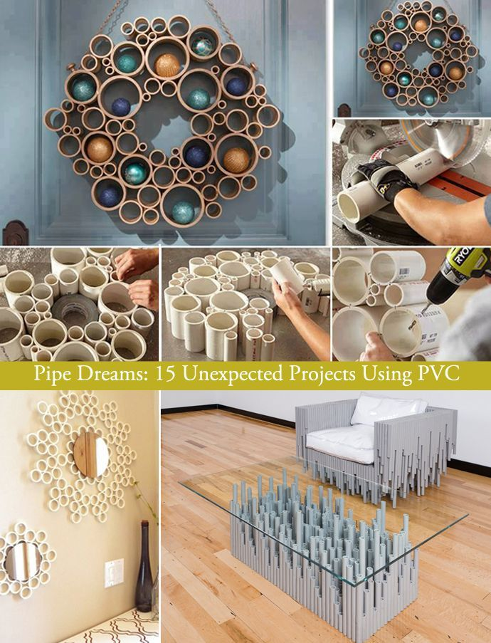 Pipe Dreams: 15 Unexpected Projects Using PVC | http://www.designrulz.com/design/2013/09/pipe-dreams-15-unexpected-projects-using-pvc/