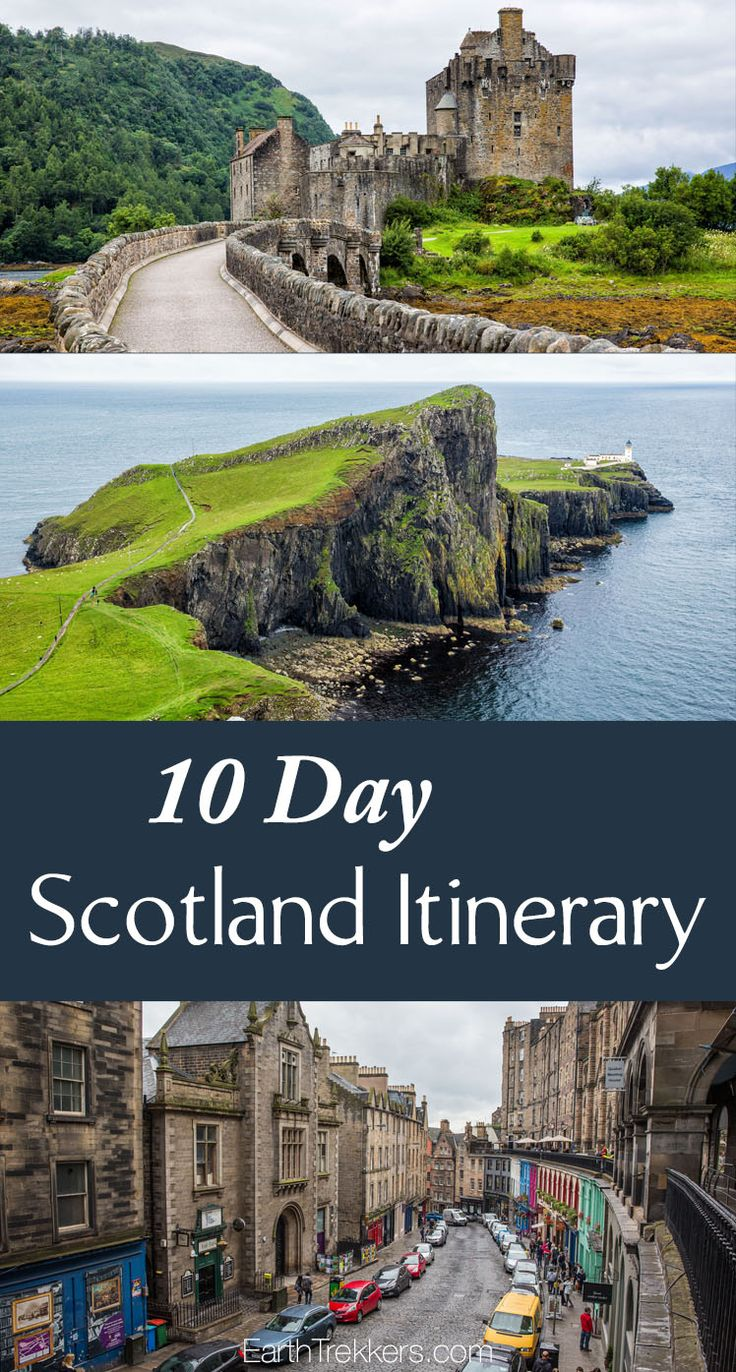 10 Day Scotland Itinerary: Edinburgh, Isle of Skye, Glencoe, Loch Ness, Glasgow, Scotland road trip