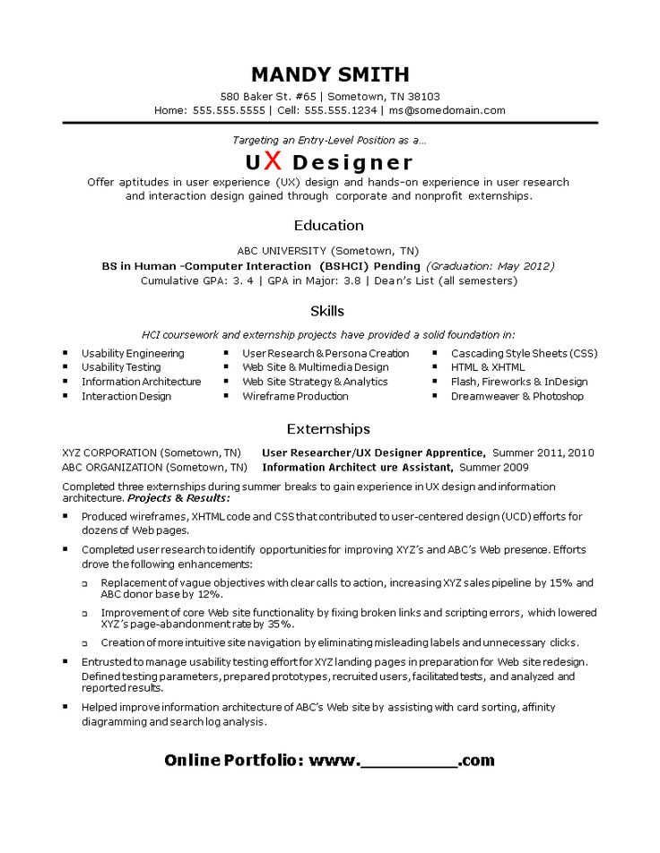 Entry level ux designer resume how to draft an entry