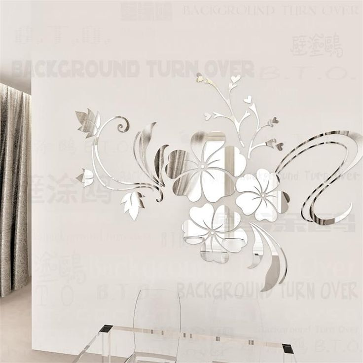 Cheap wall sticker, Buy Quality decorative wall stickers directly from China mirror decorative wall sticker Suppliers: Creative modern style simple design acrylic mirror wall stickers on the ceiling fascinate round flower wall mirror wall