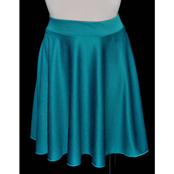 Ponte Knit Stretch Turquoise Circle Skirt Size 10-12 ($10) ❤ liked on Polyvore featuring skirts, teal, women's clothing, ponte knit skirt, turquoise skirt, blue flared skirt, skater skirts and teal skater skirt