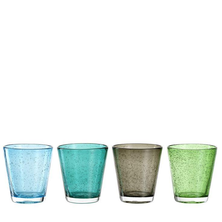Becher Burano kalte Farben sortiert: Der moderne Klassiker für den Genuss von Grappa im Stil der italienischen Bar-Kultur. Der Becher ist abwandelbar für viele andere Getränke wie Bitterino, Vodka oder Campari. Sehr gut für Getränke auf Eis. liegt gut in der Handschwere Qualität und optisch leichtSpülmaschinengeeignetGr
