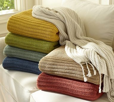 Austin Throw #potterybarn  (I would be able to make this..  for way less than $50!)