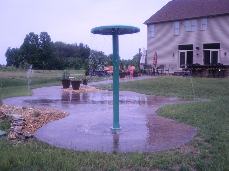 Wonderful Pool Finish Ideas For You To Copy: 100 Best Residential Backyard Splash Pad Images On