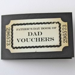 DIY projects for Fathers Day including printable voucher book and homemade LEGO cufflinks