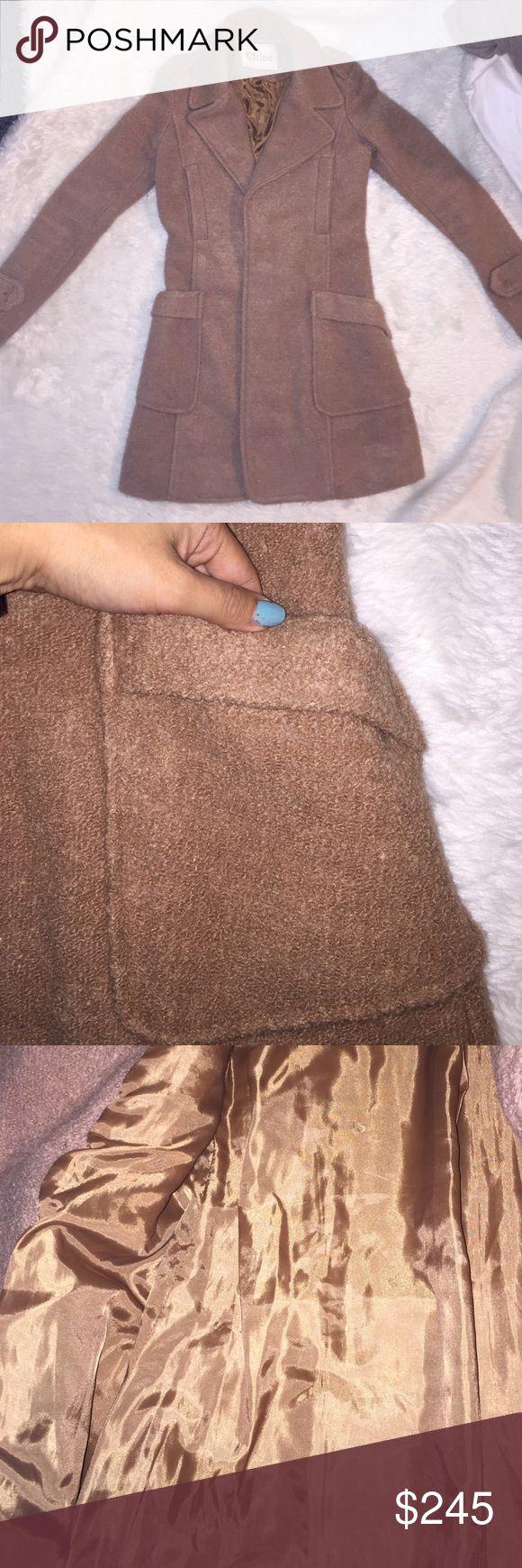 Chloe wool coat Camel tan color Chloe coat Chloe Jackets & Coats Pea Coats