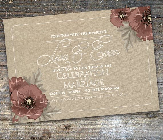 Vintage Style Neutral Burlap Floral Wedding by SixDaysCreations