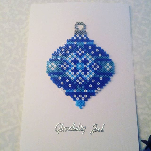 Christmas card hama beads by Henriette