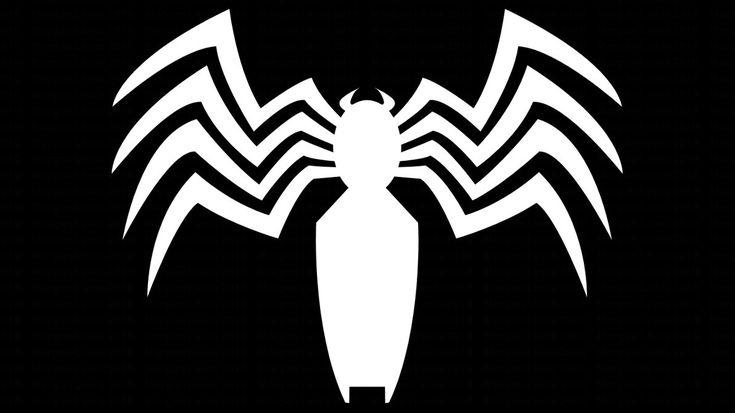 Black Spider-Man and Venom Symbol WP by MorganRLewis