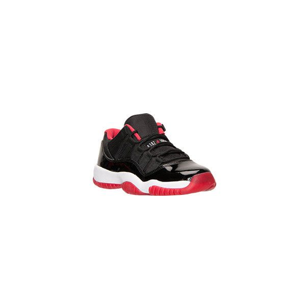 Boys' Grade School Air Jordan Retro 11 Low Basketball Shoes ❤ liked on Polyvore featuring shoes and jordans
