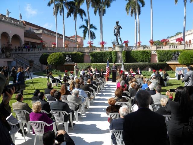 Audience at the ceremony for the twinning of the City of Sarasota with the City of Mérida, Yucatán, Mexico at the John & Mabel Ringling Museum of Art on Dec. 10, 2010