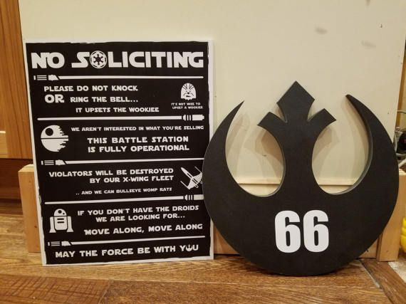 Star Wars Combo  No Soliciting Sign & House by ThatsSewGeeky109