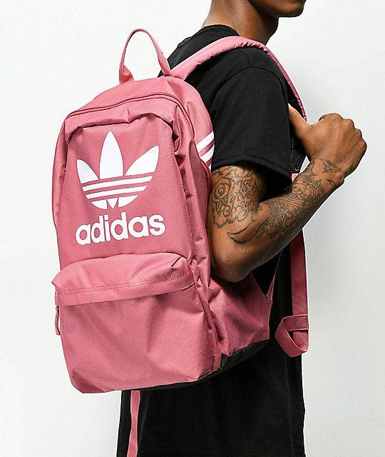 adidas Originals Big Logo Dark Pink Backpack   Cute Fashion