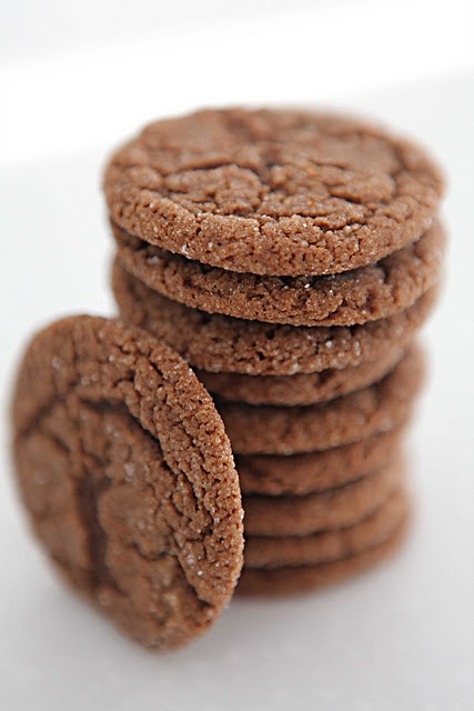 Chewy molasses cookies...