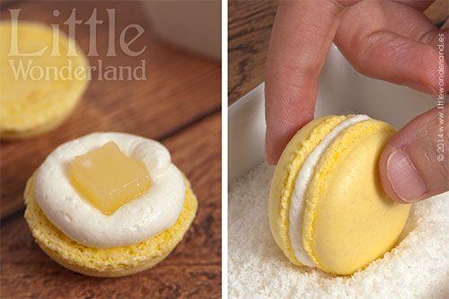 Macarons de piña colada | Little Wonderland