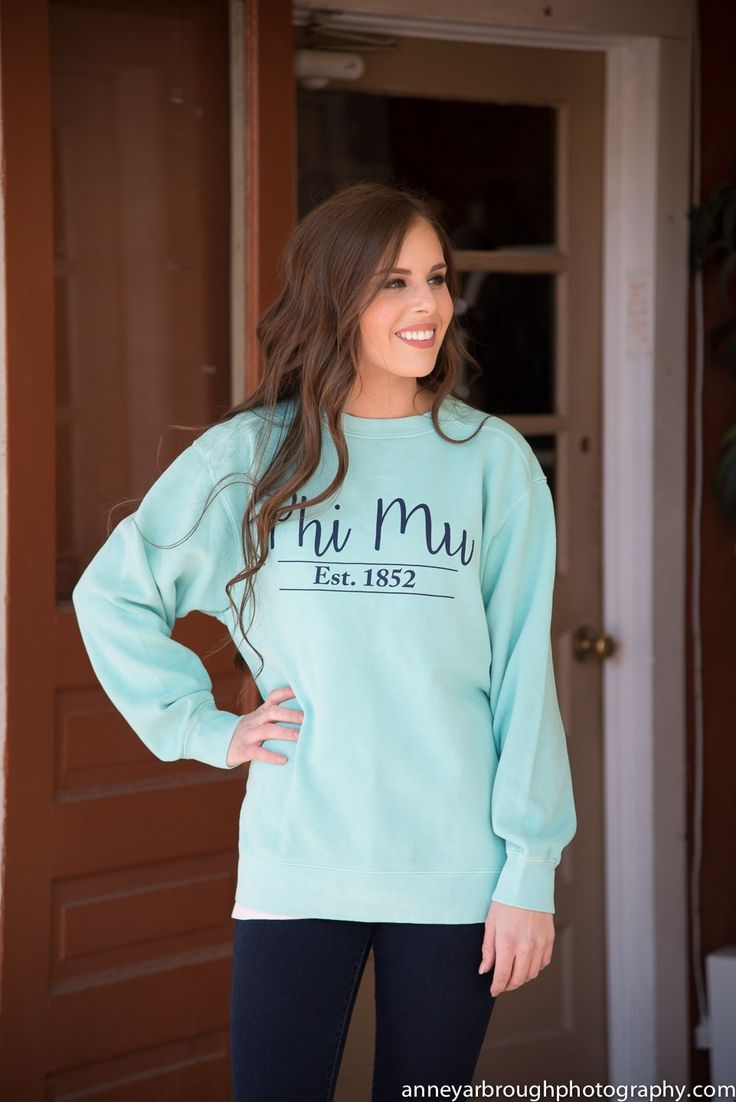 Phi Mu Comfort Color Sweatshirt by NowGreek on Etsy