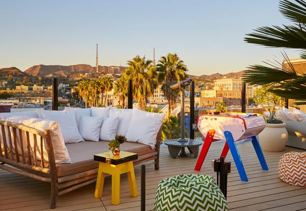 The roof of the Mama Shelter Hotel in Los Angeles / La terrazza del Mama Shelter Hotel a Los Angeles