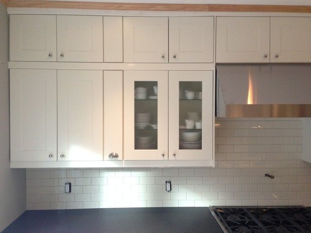 Ikea Gap Solution With Stacked Cabinets Kitchens Forum