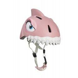 CASCO TIBURON ROSA Timbres y cascos de seguridad para niños Crazy Safety de corazón canalla e-shop