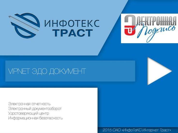 Электронный документооборот ViPNet ЭДО Документ by Электронная подпись