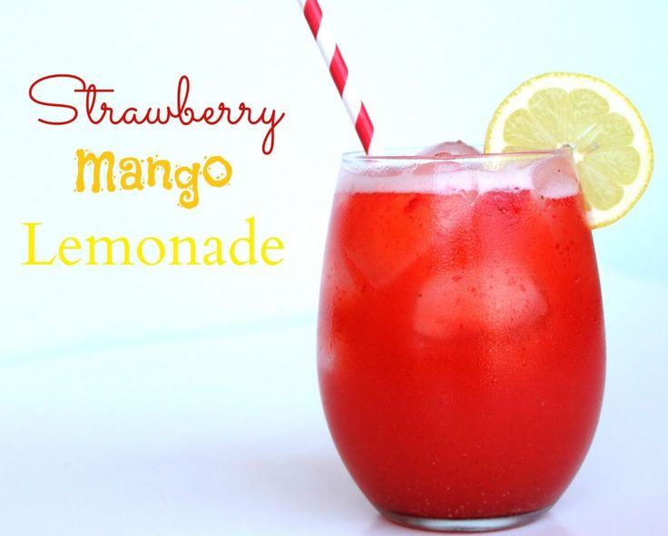 Strawberry Mango Lemonade #Drinks #Summer...I wanna make this, doesn't matter the time of year