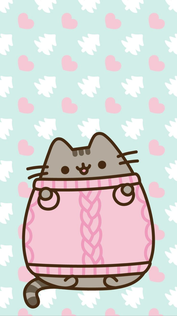 pusheen the cat iphone wallpaper Pusheen cute, Pusheen