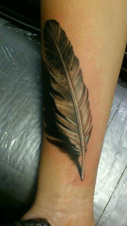 3D feather tattoo by Ellen Westholm
