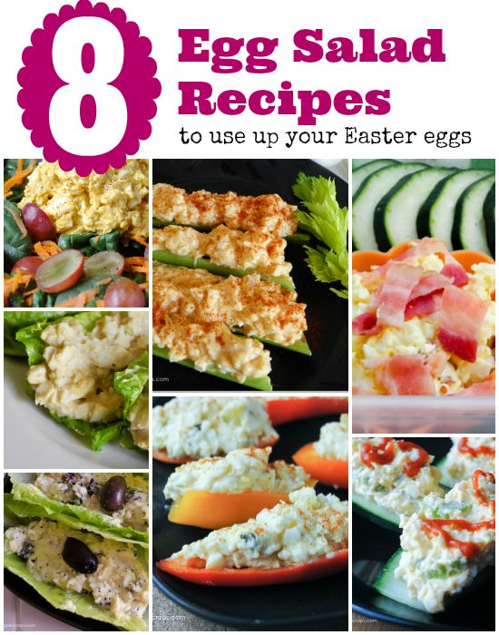 Egg Salad Recipes to Use Up Your Easter Eggs the Low Carb Way!