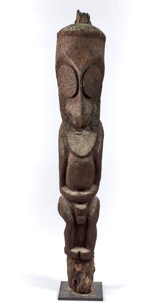 STATUE sculpture de grade. Racine de fougère arborescente. Nouvelles Hébrides Ambrym - Haut. 185 cm. - Siboni - 26/03/2017