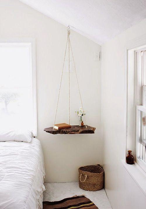 Marvelous Suspended Beside Table Amazing Idea DIY Photo