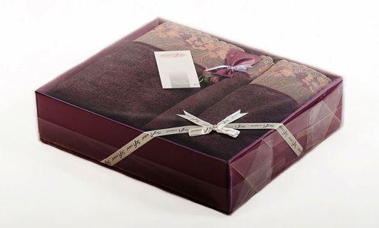 Luxusné čokoladove uteráky a osušky LALEZAR v darčekovom balení