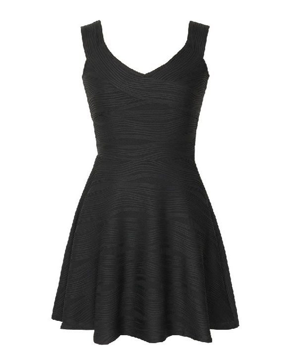 V Neckline Sleeveless Sexy Dress