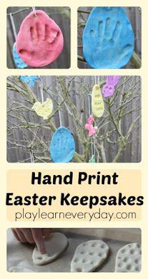 Salt Dough Hand Print Easter Decorations