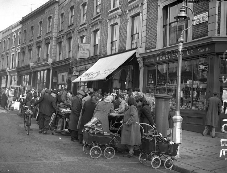 Portobello Road Market, Kennsington London 1950 - A collection of pictures