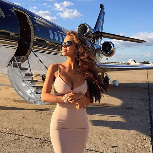 ✈️ Wish we were with @viki_odintcova on her private jet in the best selling Heidi Bodycon in nude✈️ #lovenookie
