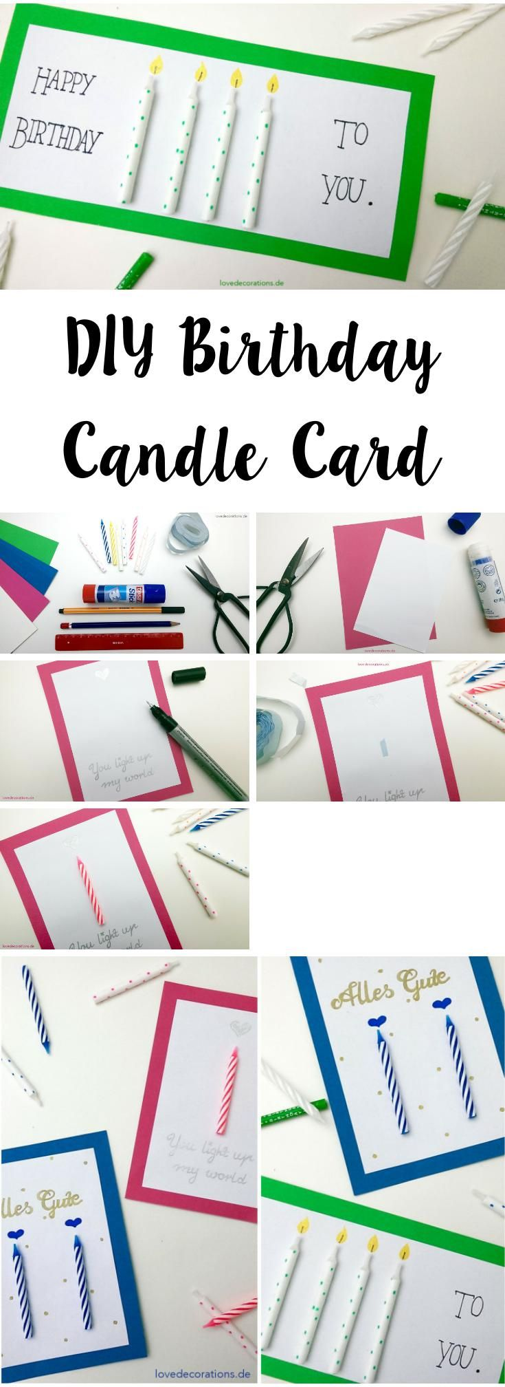 DIY Geburtstagskerze Karte | DIY Birthday Candle Card