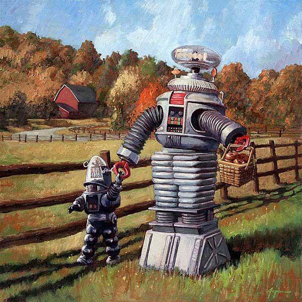 Vámonos de picnic! (Funny, Robbie looked bigger as The Robotiod...)