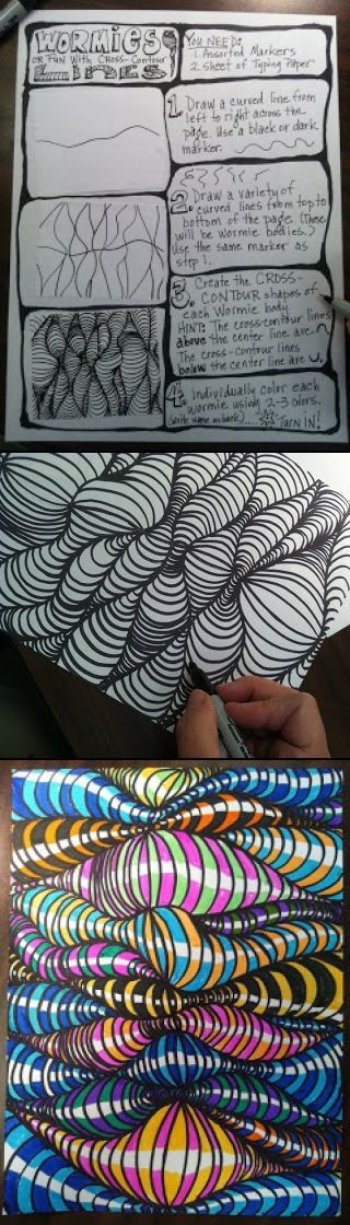 Cross contour line exercise - created via http://pinthemall.net: