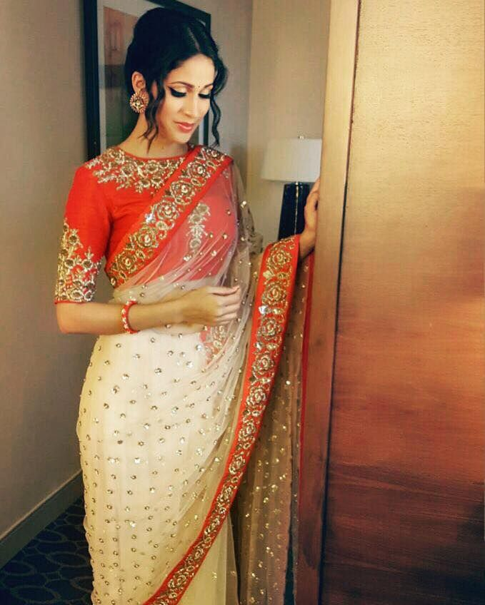 throwback Lavanya Tripathi in this beautiful saree from India Beach Fashion Week  collection. 23 October 2016