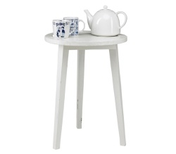 Little white table. Ø 45 x H 45 cm. €89,95 / $110.57 #table  #accessories #decoration #vtwonen