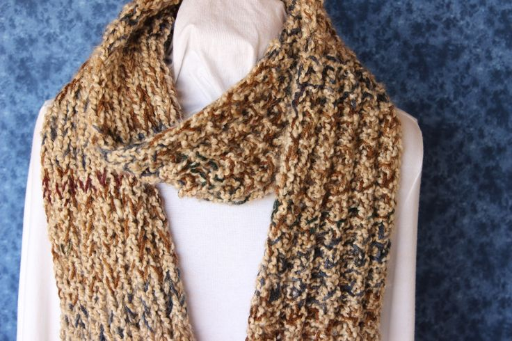 Knit Scarf Pattern With Bulky Yarn : Chunky Scarf Pattern, Knitted Scarf Patterns, Bulky Weight Yarn Design, Free ...