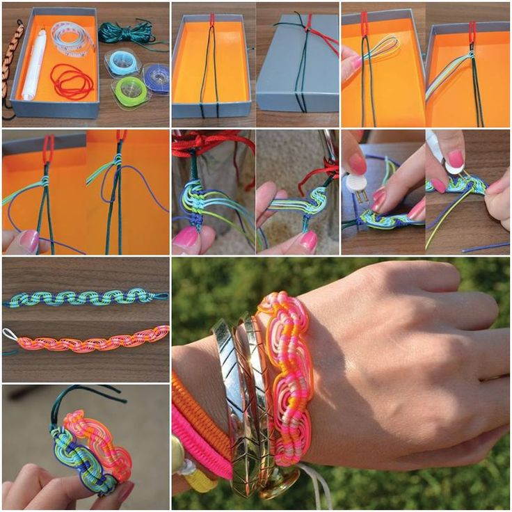 47 best crafts images on pinterest craft ideas creative ideas and how to make super cute bracelets step by step diy tutorial instructions how to diy kids craftskids solutioingenieria Images