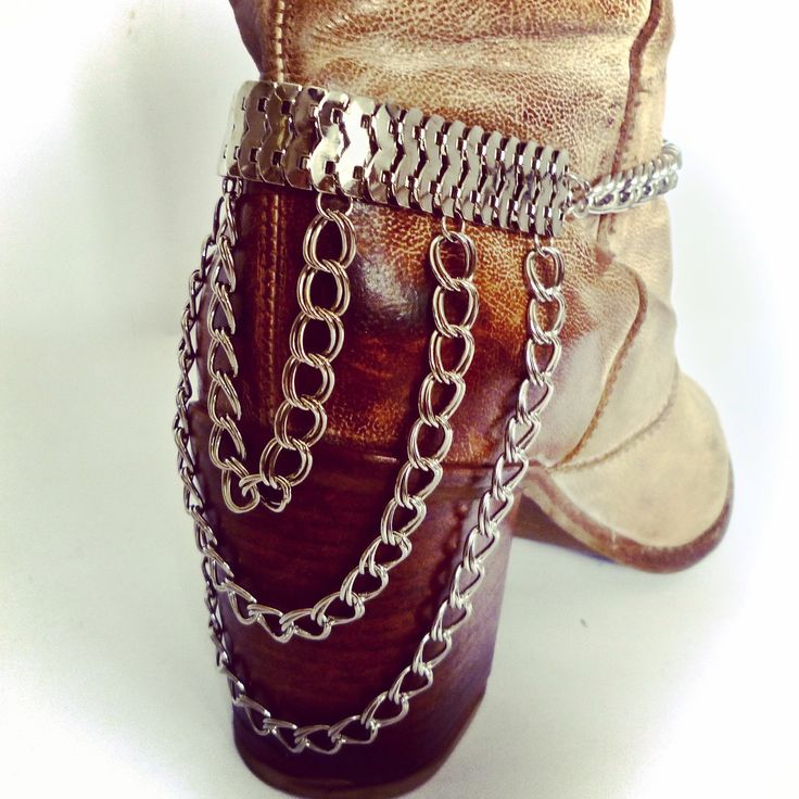 Dare to wear. Fantastic statement boot and heel chains from www.bootbooti.etsy.com