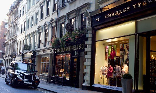 Jermyn Street in London. 9 best destinations in London for shopping >>> http://bit.ly/1NSII2A