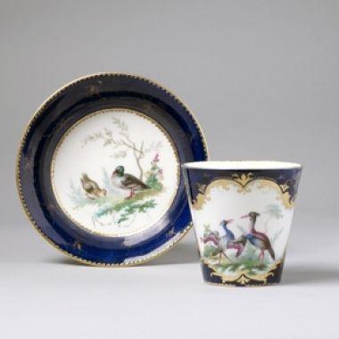 Vincennes: A Large Vincennes Cup & Saucer, circa 1752: