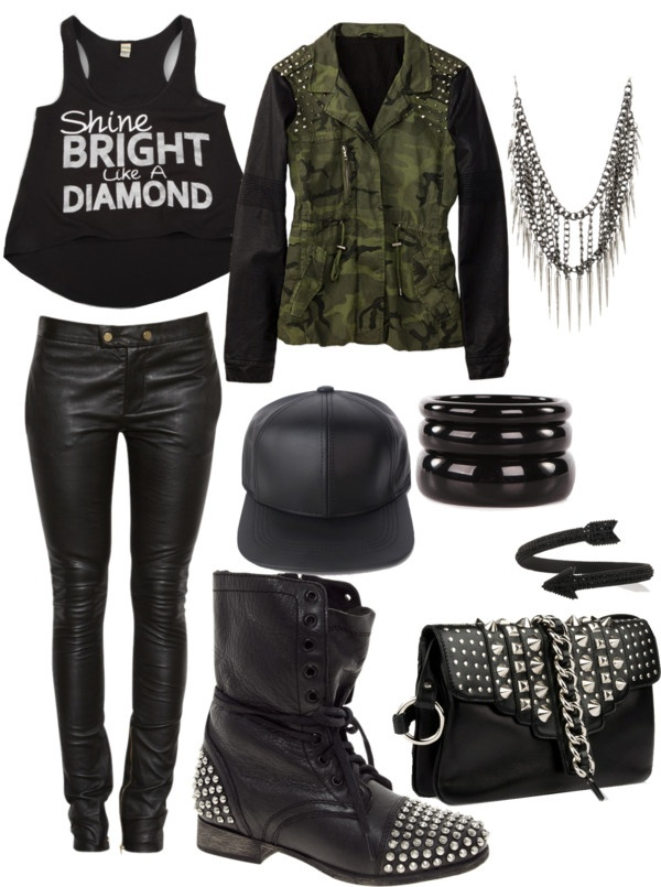 U0026quot;Rihanna Concert Outfitu0026quot; by jakara17 on Polyvore | Outfit Ideas | Pinterest | Arctic monkeys ...